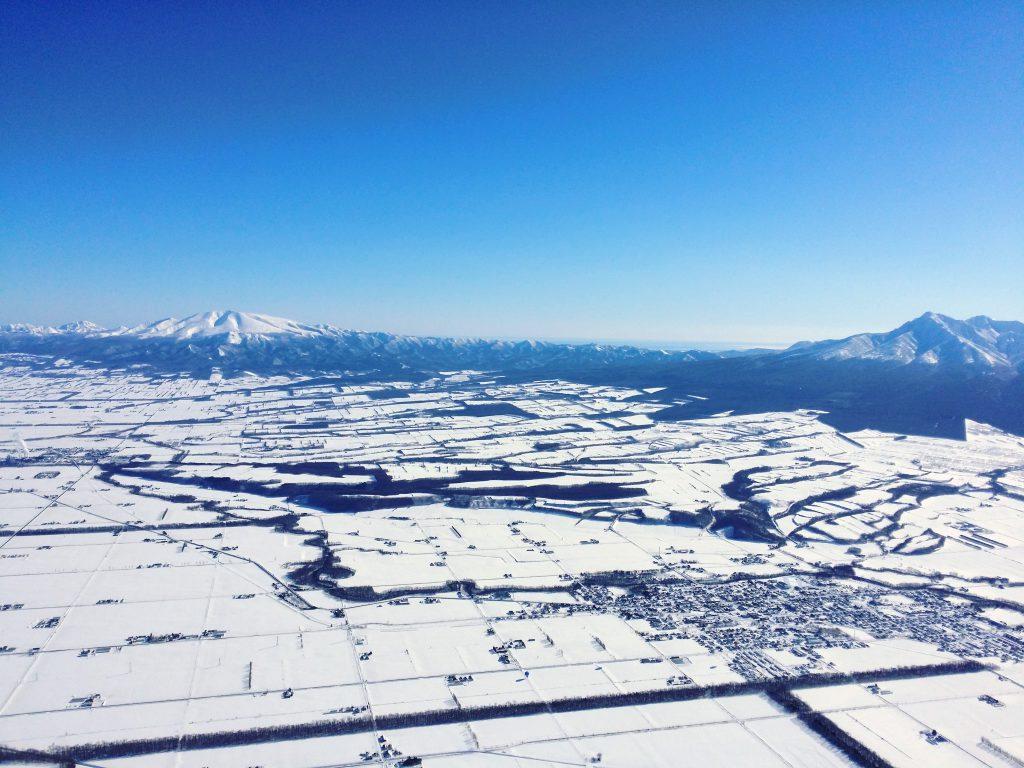 海別岳と斜里岳を天空より見下ろす!
